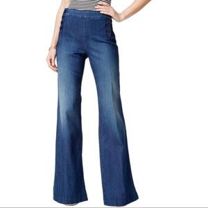 NYDJ HIGH WAISTED FLARE CLAIRE TROUSER SIZE 14